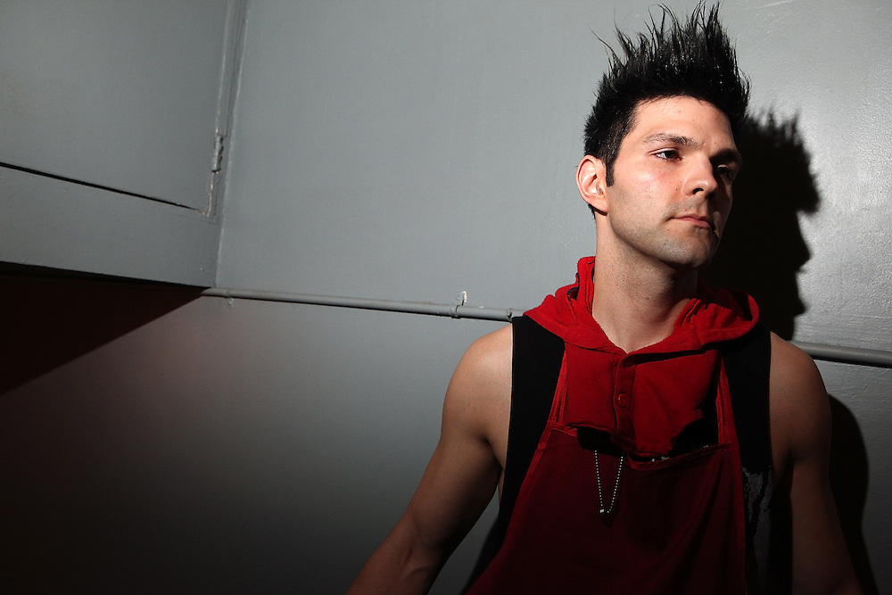NEW YORK - APRIL 26:  Dan Crean of Semi Precious Weapons poses for portrait backstage at The Bowery Ballroom on April 26, 2010 in New York City.  (Photo by Roger Kisby/Getty Images)