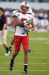 Maryland wide receiver Adrian Cannon (7) in pre-game warmups.  The Virginia Cavaliers defeated the Maryland Terrapins 31-0 in NCAA football at Scott Stadium on the Grounds of the University of Virginia in Charlottesville, VA on October 4, 2008.