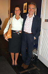 STEPHEN & FLO BAYLEY at an exhibition of photographs featuring Maserati cars held at the Michael Hoppen Gallery, 3 Jubilee Place, London SW3 on 13th July 2005.<br /><br />NON EXCLUSIVE - WORLD RIGHTS