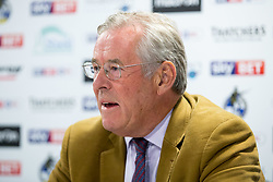 Bristol Rovers Chairman Steve Hamer addresses the media after the club's announcement that discussions with UWE regarding a potential stadium development site have been unsuccessful - Rogan/JMP - 03/08/2017 - FOOTBALL - Memorial Stadium - Bristol, England.