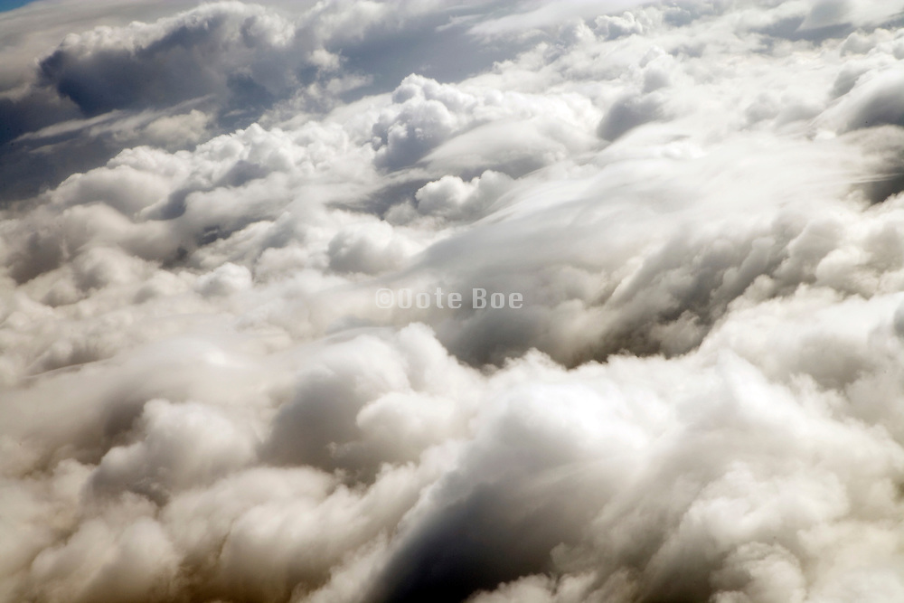 view of clouds seen from an airplane