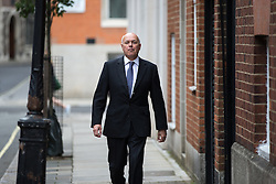 © Licensed to London News Pictures . 07/07/2016 . London , UK . IAIN DUNCAN SMITH arrives at the Westminster home of Conservative Party leadership candidate Andrea Leadson in Westminster , this morning (Thursday 7th July 2016) . Photo credit : Joel Goodman/LNP