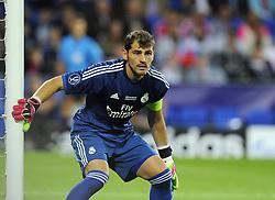 Real Madrid's Iker Casillas - Photo mandatory by-line: Joe Meredith/JMP - Mobile: 07966 386802 12/08/2014 - SPORT - FOOTBALL - Cardiff - Cardiff City Stadium - Real Madrid v Sevilla - UEFA Super Cup