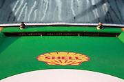 Image of green auto hood and windshield, 1972 Porsche 911T/ST Kremer Recreation in California, property released