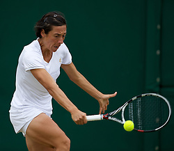 LONDON, ENGLAND - Monday, July 2, 2012: Francesca Schiavone (ITA) during the Ladies' Singles 4th Round match on day seven of the Wimbledon Lawn Tennis Championships at the All England Lawn Tennis and Croquet Club. (Pic by David Rawcliffe/Propaganda)