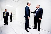 The Prime Minister of Norway, Mr. Jens Stoltenberg, pays a visit to CEO Lloyd Blankfein at the Goldman Sachs headquarters in the Financial District of Manhattan.