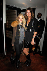 Left to right, WAFAH DUFOUR Osama bin Laden's niece  and GABRIELA BANOVA at a party to celebrate the Russian New Year in association with Stolichnaya vodka held at Harvey Nichols, London on 14th January 2008.<br /> <br /> NON EXCLUSIVE - WORLD RIGHTS
