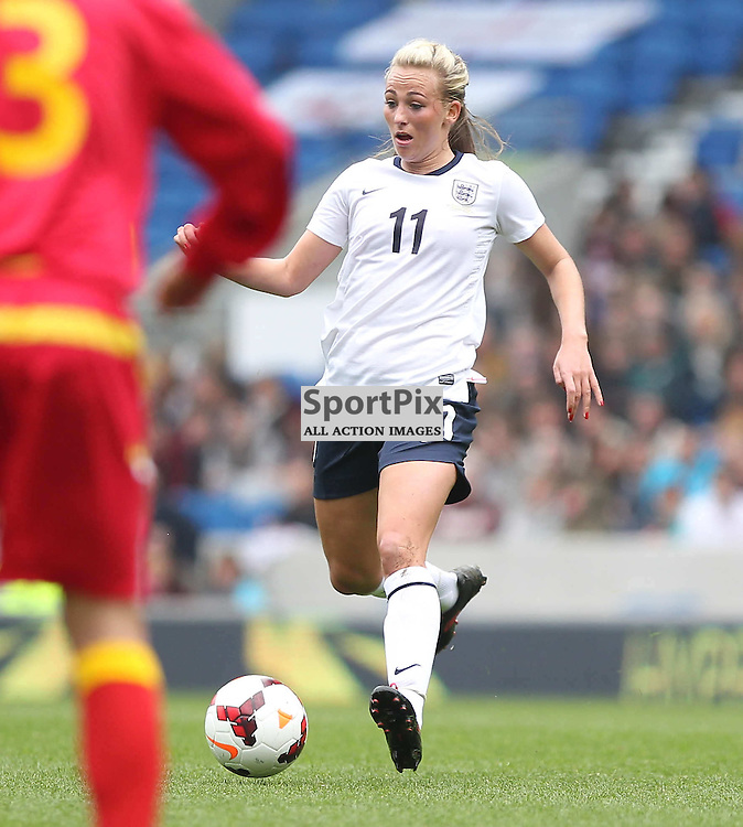 England's Toni Duggan during the FIFA Women's World Cup qualifier match between England and Montenegro at the American Express Community Stadium, Brighton, 5th April 2014 © Phil Duncan | SportPix.org.uk