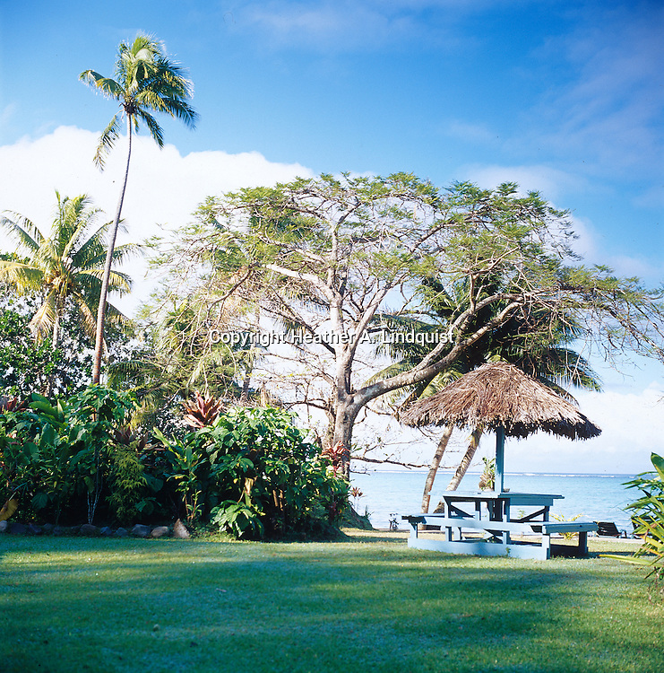 Hut overlooking the Coral Coast at Crusoe's