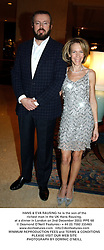 HANS & EVA RAUSING he is the son of the richest man in the UK Hans Rausing, at a dinner in London on 2nd December 2003.PPE 68