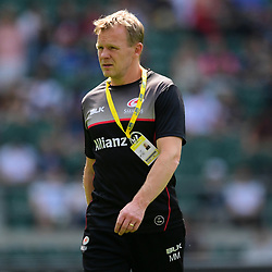 Saracens head coach Mark McCall during the Aviva Premiership Final match between Exeter Chiefs and Saracens at Twickenham Stadium on May 26, 2018 in London, England. (Photo by Alex Davidson)