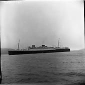 1957 SS Britannic in Cobh