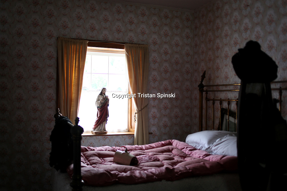 A bedroom on the grounds of Bunratty Castle near Limerick, Ireland.