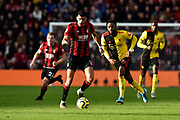 Dominic Solanke (9) of AFC Bournemouth on the attack during the Premier League match between Bournemouth and Watford at the Vitality Stadium, Bournemouth, England on 12 January 2020.