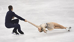 February 8, 2018 - Pyeongchang, South Korea - CHRIS KNIERIM and ALEXA SCIMECA KNIERIM of Colorado Springs compete Friday, February 9, 2018, in the pairs Short Program Team event on opening day of the Figure Skating Team competition at the Winter Olympic Games in at the Gangneung Ice Arena in Pyeongchang, S. Korea.  Photo by Mark Reis, ZUMA Press/The Gazette (Credit Image: © Mark Reis via ZUMA Wire)