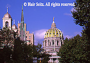 PA Capitol, State Street, Harrisburg, Historic Churches, Trees Before Historic State Street Renovation