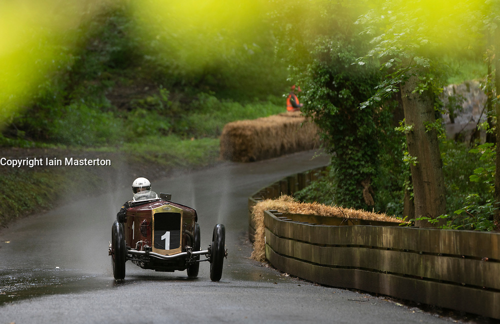 Boness Revival hillclimb motorsport event in Boness, Scotland, UK. The 2019 Bo'ness Revival Classic and Hillclimb, Scotland's first purpose-built motorsport venue, it marked 60 years since double Formula 1 World Champion Jim Clark competed here.  It took place Saturday 31 August and Sunday 1 September 2019. 1. Adam Smith. Frazernash Super sport