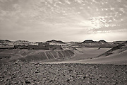 The Old Monastery, Sinai Desert, Egypt, monochrome