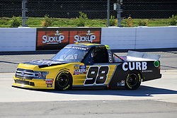 March 23, 2019 - Martinsville, VA, U.S. - MARTINSVILLE, VA - MARCH 23:   #98: Grant Enfinger, ThorSport Racing, Ford F-150 CURB Records during qualifying for the NASCAR Gander Outdoors Truck Series TruNorth Global 250 race on March 23, 2019 at the Martinsville Speedway in Martinsville, VA.  (Photo by David J. Griffin/Icon Sportswire) (Credit Image: © David J. Griffin/Icon SMI via ZUMA Press)