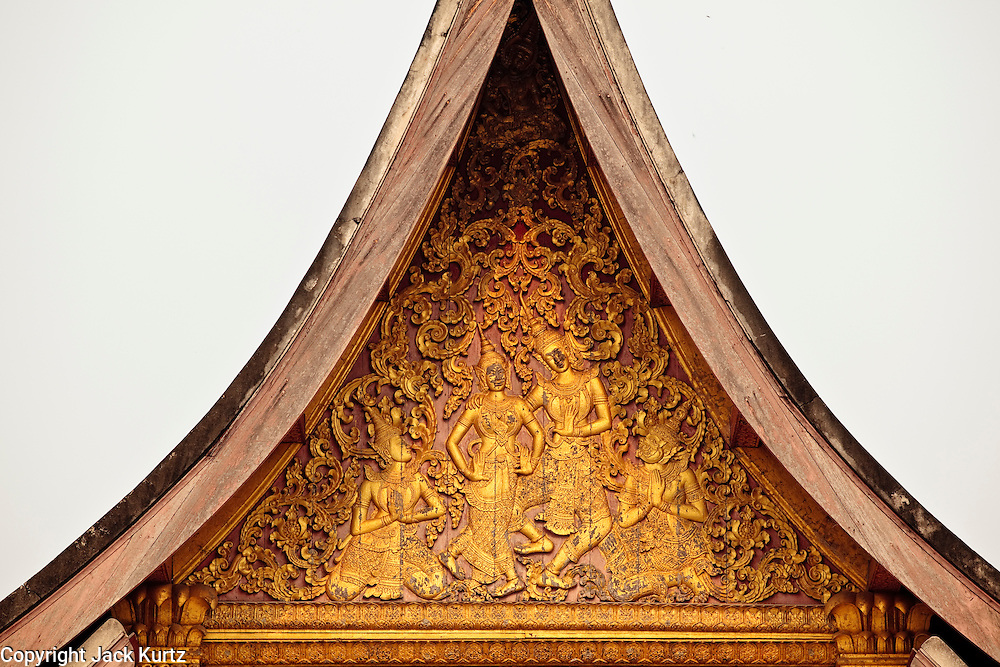 Mar. 13, 2009 -- LUANG PRABANG, LAOS: Roofline at Wat Xieng Thong in Luang Prabang. The temple was built in 1560 and was a royal temple until the end of the Laotian monarchy in 1975.   Photo by Jack Kurtz