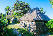 Local thached hut,  Yasawas, Fiji, South Pacific