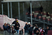 February 26, 2017: Circuit de Catalunya. Fans watch testing