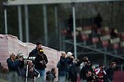 February 26, 2017: Circuit de Catalunya. Fans watch testing