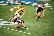 University of Wyoming takes on Utah Valley University at Red Bull Uni 7s Rugby Qualifiers at Infinity Park in Glendale, CO, USA, on 25 August, 2016.