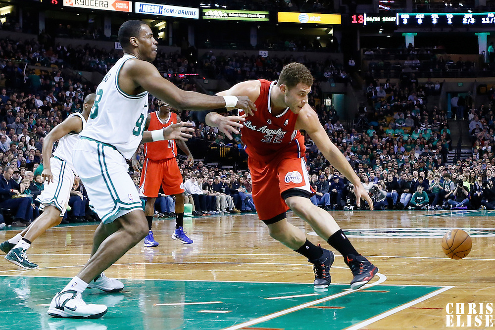 03 February 2013: Los Angeles Clippers power forward Blake Griffin (32) loose the ball during the Boston Celtics 106-104 victory over the Los Angeles Clippers at the TD Garden, Boston, Massachusetts, USA.