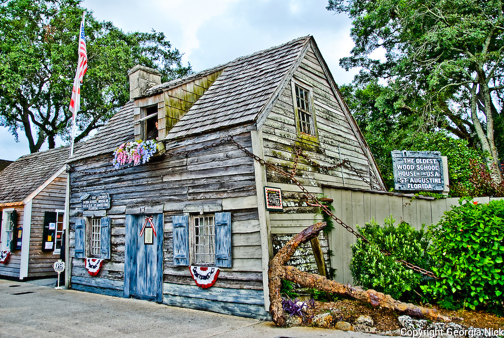 The Oldest Wooden School House - St. Augustine, Florida.