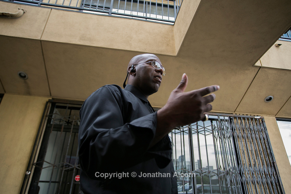 Dr. Ernest Bagner III speaks with a reporter outside his former office tucked in the back corner of a strip mall in Hollywood, California November 12, 2013. photo by Jonathan Alcorn for Propublica