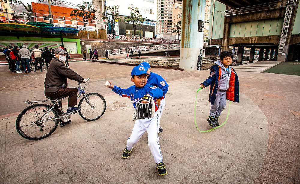 The walkway and park that runs along Oncheon Stream in Busan is one of the city's great features. People exercise, play sports, and make art along the 10km path.