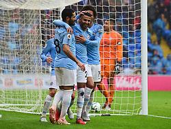 Riyad Mahrez of Manchester City celebrates his first goal. - Mandatory by-line: Alex James/JMP - 22/09/2018 -  FOOTBALL - Cardiff City Stadium - Cardiff, Wales -  Cardiff City v Manchester City - Premier League