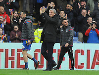 Football - 2017 / 2018 Premier League - Crystal Palace vs. Leicester City<br /> <br /> A happy Palace Manager, Roy Hodgson after the match, at Selhurst Park.<br /> <br /> COLORSPORT/ANDREW COWIE