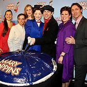 NLD/Amsterdam/20100210 -  1e repetitiedag musical Mary Poppins, Yvonne Valkenburg, Steve Beirnaert, Maike Boerdam, Noortje Herlaar, William Spaaij, Marjolein Touw, Hugo Haenen