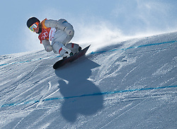 February 12, 2018 - Pyeongchang, South Korea - JAMIE ANDERSON of the USA on her gold medal winning run in the Womens Snowboard Slopestyle finals at Phoenix Snow Park. (Credit Image: © Mark Reis via ZUMA Wire)