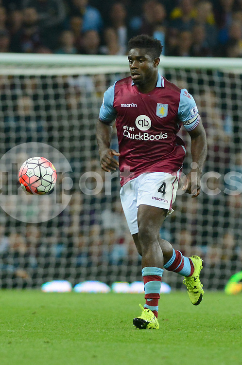 Aston Villa's Micah Richards during the Barclays Premier League match between Aston Villa and Manchester United at Villa Park, Birmingham, England on 14 August 2015. Photo by Garry Griffiths.
