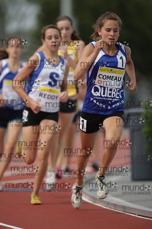 Ottawa, Ontario ---10-08-08--- Comeau competes in the 800 metres at the 2010 Royal Canadian Legion Youth Track and Field Championships in Ottawa, Ontario August 8, 2010..JULIE ROBINS/Mundo Sport Images.
