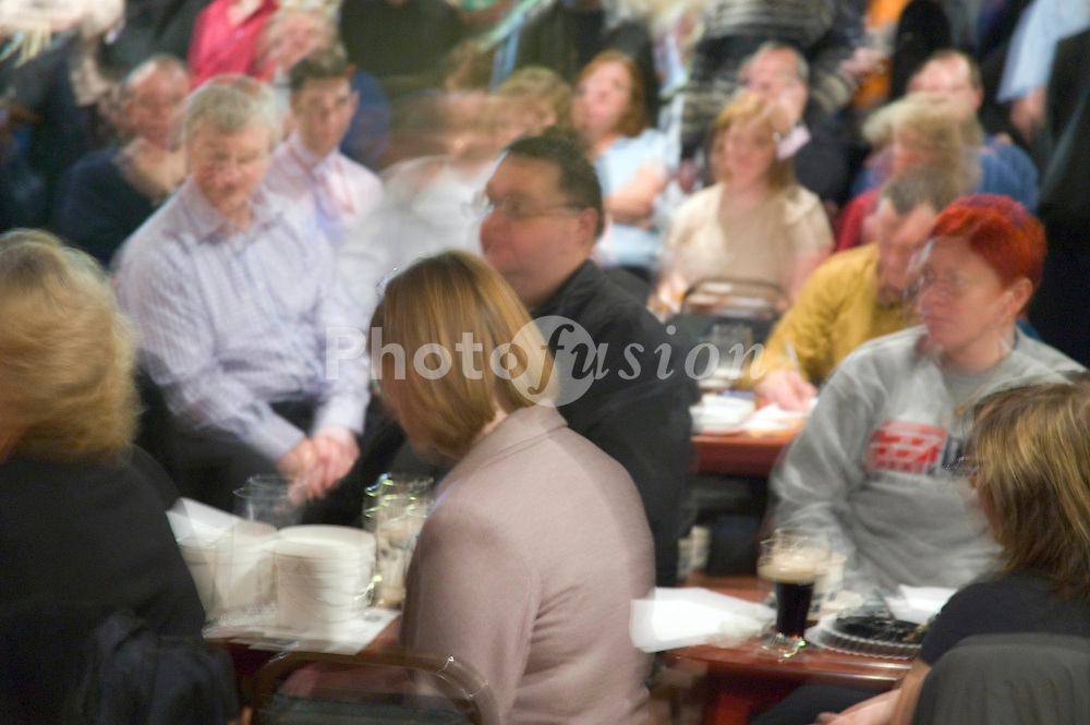 People at a meeting of the Public and Commercial Services Union,