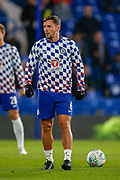 Chelsea midfielder Danny Drinkwater (6) warms up before  during the EFL Cup 4th round match between Chelsea and Derby County at Stamford Bridge, London, England on 31 October 2018.