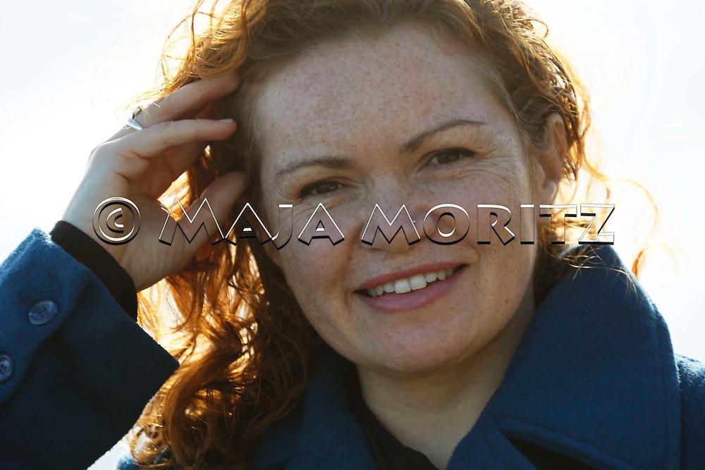 Tina Makereti at home at the beach of Kapiti Coast near Wellington, New Zealand
