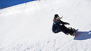"Chloe Kim fools around in the mini pipe at Copper Mountain, CO. She claimed she was ""terrified"" the whole way. ©Brett Wilhelm/ESPN"