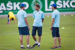 Players of NK Domzale during training before 1st leg match of 1st Round of Qualifications for European League, on June 28, 2017 in Arena Petrol, Celje, Slovenia. Photo by Ziga Zupan / Sportida