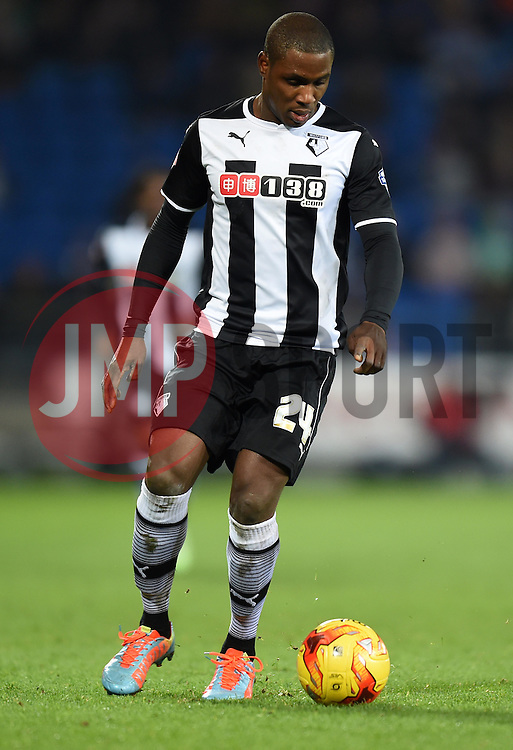 Watford's Odion Ighalo in action against Cardiff City - Photo mandatory by-line: Paul Knight/JMP - Mobile: 07966 386802 - 28/12/2014 - SPORT - Football - Cardiff - Cardiff City Stadium - Cardiff City v Watford - Sky Bet Championship