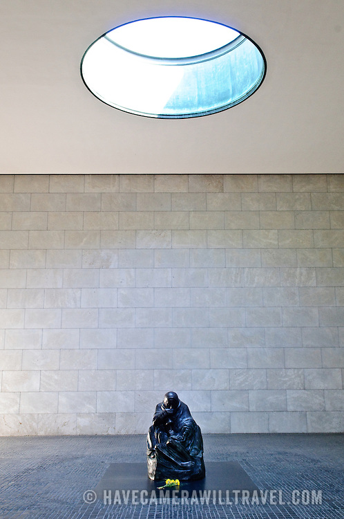 Käthe Kollwitz's sculpture Mother with her Dead Son in the Neue Wache on Unter der Linden