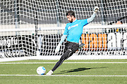 Forest Green Rovers goalkeeper Sam Russell(23) warming up during the The FA Cup 4th qualifying round match between Sutton United and Forest Green Rovers at Gander Green Lane, Sutton, United Kingdom on 15 October 2016. Photo by Shane Healey.