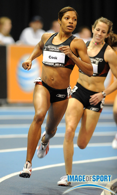 Feb 23, 2008; Boston, MA, USA: Nicole Cook wins women's 800m heat in 2:04.03 in the AT&T USA Track & Field Indoor Championships at the Reggie Lewis Center. Mandatory Credit: Kirby Lee/Image of Sport-US PRESSWIRE