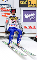 Robert Kranjec (SLO) during Trial round of the FIS Ski Jumping World Cup event of the 58th Four Hills ski jumping tournament, on January 6, 2010 in Bischofshofen, Austria. (Photo by Vid Ponikvar / Sportida)