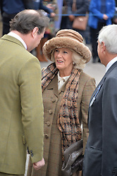 NEWBURY, ENGLAND 26TH NOVEMBER 2016: HRH The Duchess of Cornwall & Jo Thornton at Hennessy Gold Cup meeting Newbury racecourse Newbury England. 26th November 2016. Photo by Dominic O'Neill