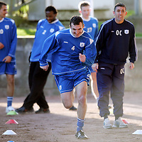 St Johnstone Training...02.02.07<br />Ex Falkirk player Andy Lawrie working hard during training this morning before facing his old side in tomorrow's Scottish Cup tie<br />see story by Gordon Bannerman Tel: 01738 553978 or 07729 865788<br />Picture by Graeme Hart.<br />Copyright Perthshire Picture Agency<br />Tel: 01738 623350  Mobile: 07990 594431